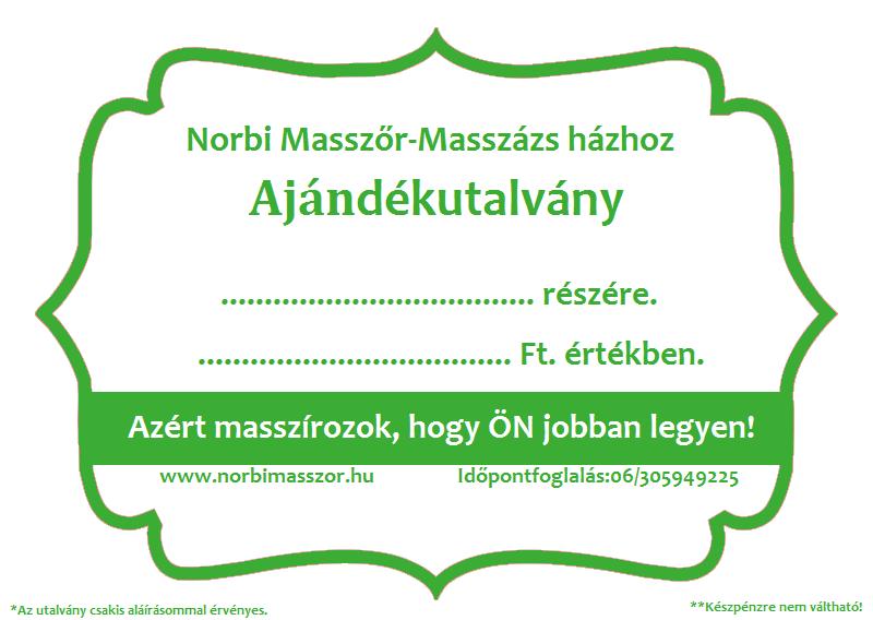 norbimasszőr.hu Ajándékutalvány